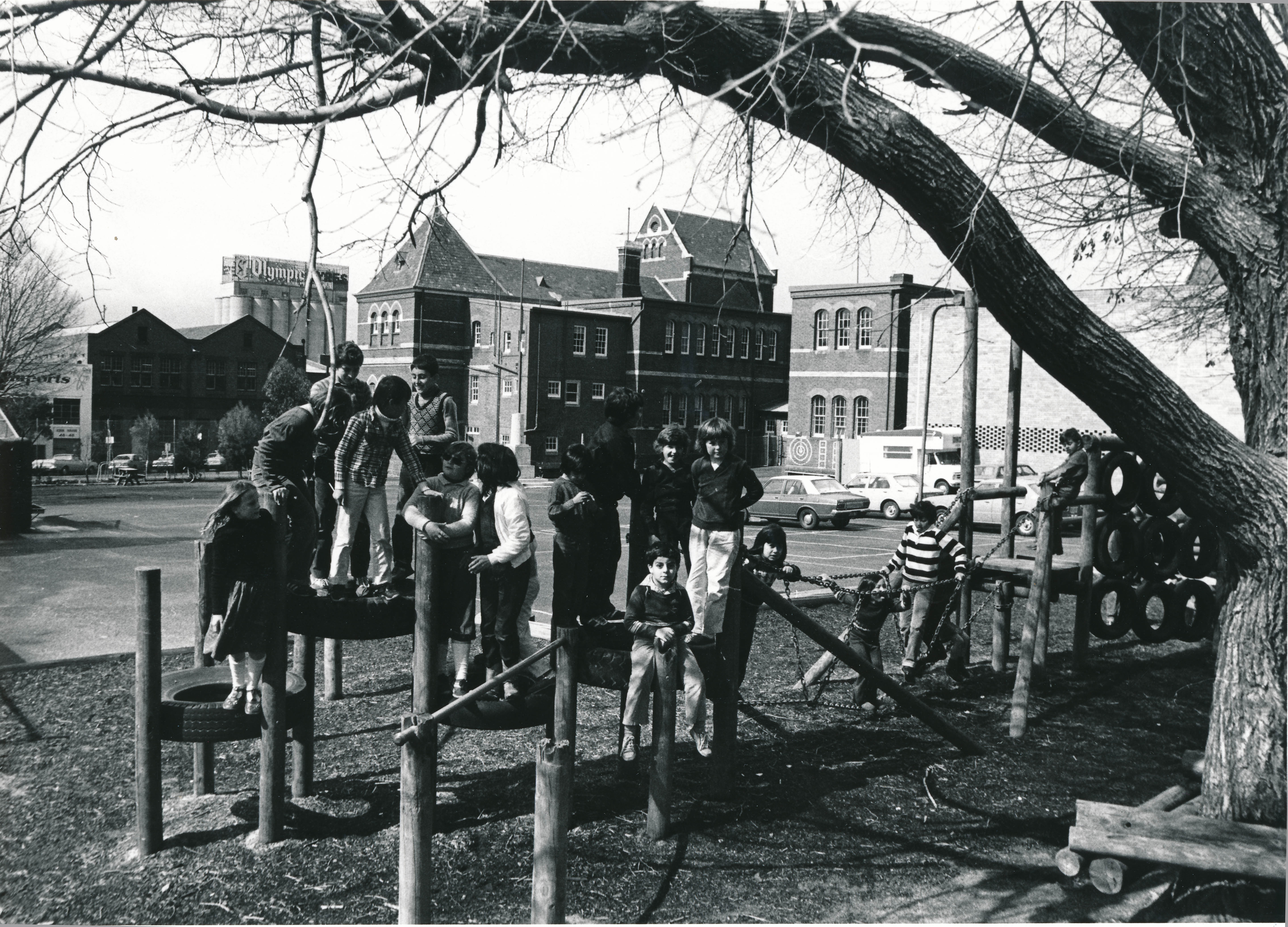 Children at play, Cambridge Street Primary School, Collingwood, c1980s. Photographer unknown. Yarra Libraries, CL PIC 190.