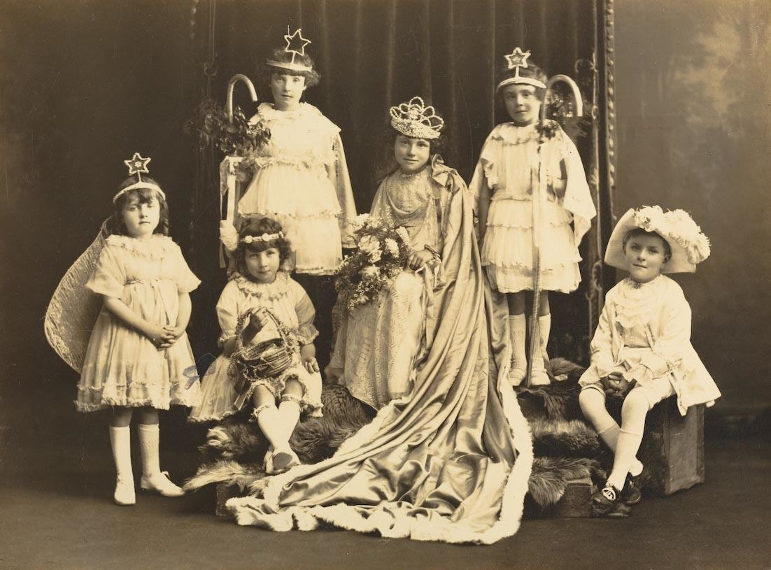 Children in Costume for Queen's Parade, St Andrews School, Werribee, c1924. Photographer: Alice Mills. Museums Victoria, MM 110118