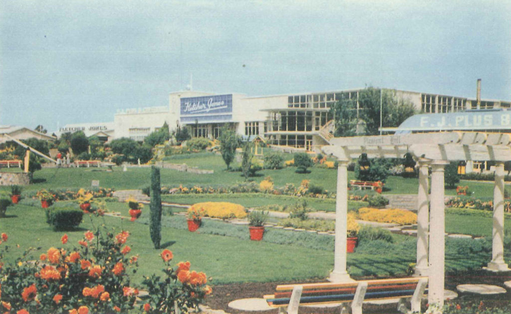 Fletcher Jones Factory & Gardens, c1960s. Photographer: Nucolorvue Productions. Corangamite Regional Library Corporation, cr 578/fle